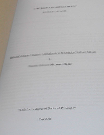 Handed in my thesis